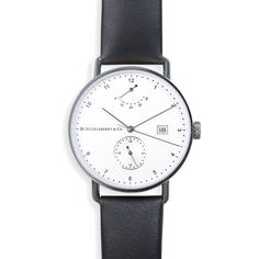 c06c809dd53 Atticus in Silver with Ivory Black strap