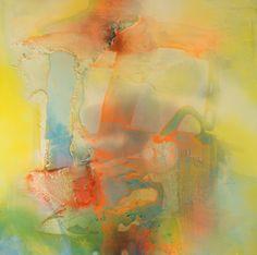 PostprecipitationII, 2013  Mixed material on canvas,  100 x 100 cm