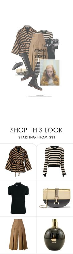 """Les Lignes / The Lines"" by halfmoonrun ❤ liked on Polyvore featuring Rochas, Fendi, Vetements, Lanvin, Piel Leather, MANGO, stripesonstripes and PatternChallenge"