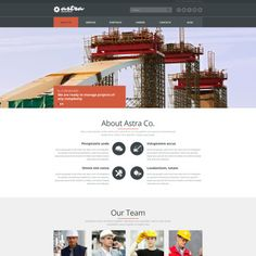 Joomla Template for Reliable Building Company Website