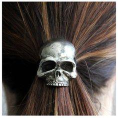Prendedor de cabelo Caveira
