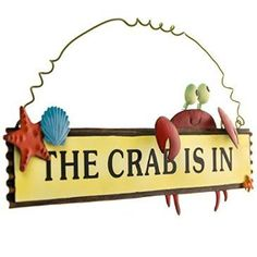 No matter your mood, your guests will have a laugh when they see this metal hanging sign on the door. Add a splash of sea life style to your front porch decor with this and more pieces from Cracker Barrel.