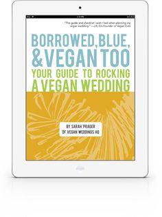 "The ebook guide to planning a vegan wedding! ""Borrowed, Blue, & Vegan Too"" veganweddingshq Free Wedding, Our Wedding, Wedding Stuff, Becoming Vegetarian, Vegan Cuts, I Got Married, Day Of My Life, Wedding Inspiration, Wedding Ideas"