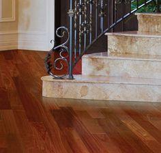 Hardwood Floors: IndusParquet Hardwood Flooring - 1/2 IN. x 5 IN. Engineered Exotics - Santos Mahogany