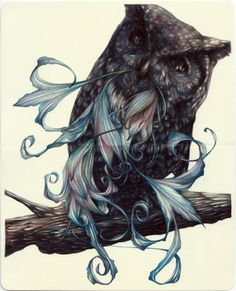 The Cynic 2014, colored pencils on moleskin paper .. by Marco Mazzoni .. . nathanlevinegallery