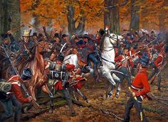 1813 10-05 Battle of the Thames, decisive United States victory in the War of 1812 against Great Britain - Don Troiani