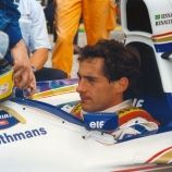 Ayrton  Senna  poco  prima  della  partenza  del  Gran  Premio  di  San  Marino  (1/5/1994)