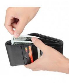 Portafoglio da uomo zonlicat Genuine Leather Wallet SLIM RFID Blocco per.