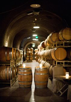 Wine cave at Bella Vineyards; Daniel Meigs photo