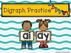 "Ever need a quick, easy, and FREE way to practice ""ai"" and ""ay"" digraphs with your students? This download is the perfect combination of worksheets and games to do just that!This download includes: 2 classroom poster pages! 3 worksheets to practice sorting and writing ""I Have Who Has..."" game Connect with me!"