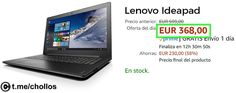 Portátil Lenovo Ideapad 12GB RAM por 368 - http://ift.tt/2uki0IW