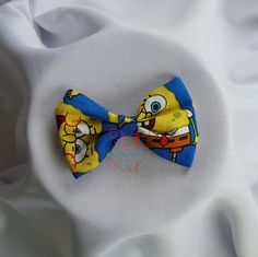 SpongeBob SquarePants Bowtie, Hairclip, Hairband by PerfectlyCraftedByT