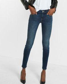 mid rise performance stretch skinny jean