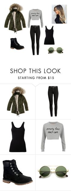 """""""Untitled #5"""" by lejla-bajric ❤ liked on Polyvore featuring Hollister Co., Theory, MINKPINK, Timberland and ZeroUV"""