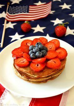Healthy 3 ingredients firework pancake