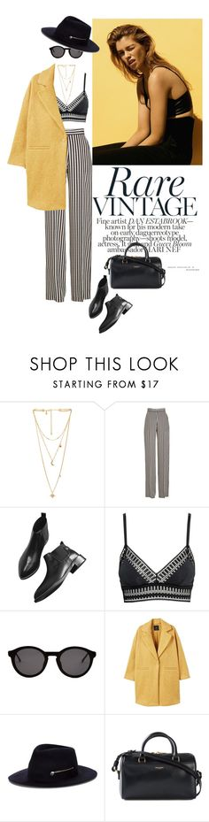 """""""Başlıksız #739"""" by ceren-gcr ❤ liked on Polyvore featuring Rebecca Minkoff, Etro, H&M, Thierry Lasry, MANGO, Larose and Yves Saint Laurent"""