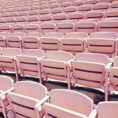 Bleached bleachers (at Rose Bowl Stadium)