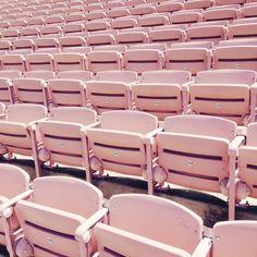 Bleached bleachers (at Rose Bowl Stadium)