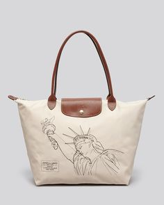 Longchamp Tote - Le Pliage Statue of Liberty | Bloomingdale's