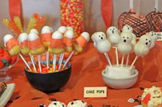 Halloween cake pops- Usually cake pops gross me out but I think only when other people make them.  Just the rolling of the cake in someones palm...yuck.