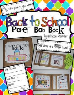 Back to School Bag Book: Interactive Kit from Chrissie Rissmiller on TeachersNotebook.com -  (21 pages)  - Printables for making a back to school bag book with your students during the first week of school.