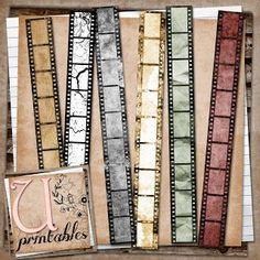 FREE Printable-Vintage Film Strips
