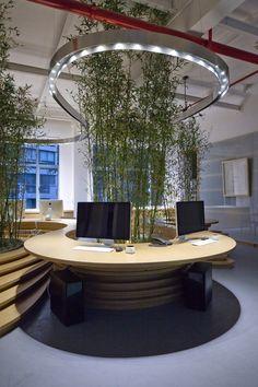 jw associates bamboo office interior shanghai designboom