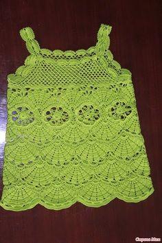 Crochet girls dress + charted pattern