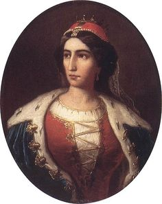 Countess Ilona Zrínyi (1643–1703), Hungarian noble woman, heroine of the anti-Habsburg uprising. Painted in 1880 by Jakobey Károly (1825–1891).