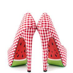 Taylor Says watermelon heels, crazy but irresistible.