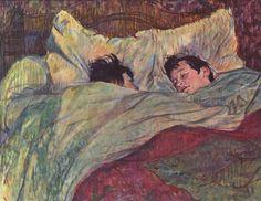 Henri de Toulouse-Lautrec - deux filles dans le lit