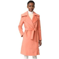 C/Meo Collective Dream Space Coat (394 AUD) ❤ liked on Polyvore featuring outerwear, coats, terracotta, red coat, colorful coat, multi colored coat, red overcoat and wrap coat