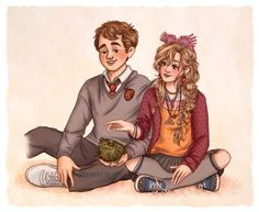 neville and luna by susanne draws