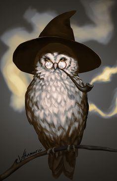 For owl lovers everywhere. Owl Bird, Bird Art, Fantasy Kunst, Fantasy Art, Owl Artwork, Owl Wallpaper, Owl Quilts, Owl Illustration, Felt Owls