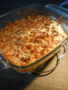 Aardappelgratin voor in de airfryer Good Food, Yummy Food, Tasty, Actifry, Multicooker, Time To Eat, Air Fryer Recipes, Food Hacks, Macaroni And Cheese