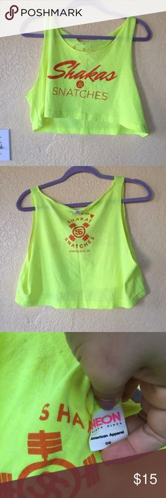 Shakas and snatches crossfit crop top Crop top from shakas and snatches! Great condition. Really cropped Tops Crop Tops