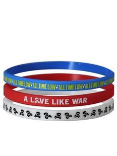 All Time Low A Love Like War Wristbands - 3 Pack Exclusive To Grindstore