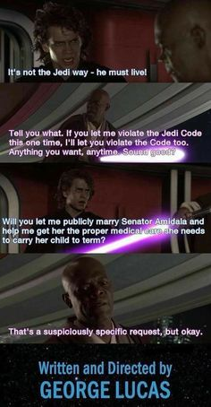Star Wars: 10 Jedi Logic Memes That Are Too Hilarious For Words Star Wars Trivia, Star Wars Jokes, Star Wars Facts, Star Wars Film, Star Wars Clone Wars, Star Trek, Jedi Code, Rasengan Vs Chidori, Prequel Memes