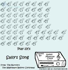 sallys song on the ocarina _ the nightmare before christmas