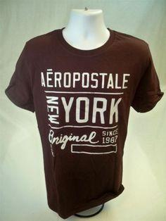 Aeropostale-Mens-Short-Sleeve-Graphic-T-shirt-Burgundy-size-XXL-Aero-Tee-New