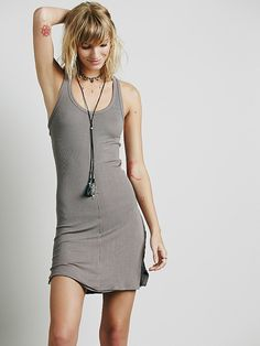 Slinky Tank Slip | American made super soft slouchy ribbed slip featuring a low racerback with cutouts.  Easy, comfortable fit with raw trim detailing.   *Intimately