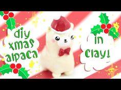 ♡ Kawaii Christmas Alpaca polymer clay tutorial ♡