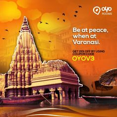 This #Summer, experience the holy city of #Varanasi, one of the oldest living cities in the world with #OYORooms.  Visit OYO Rooms and use coupon code OYOV3 to avail a flat 15% discount on room bookings.