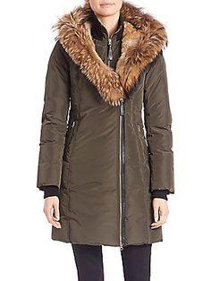 Mackage Trish Fur Trim Hooded Down Coat