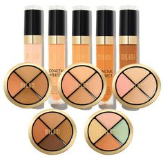 Milani Concealer Variety Longwear Concealer Conceal Kit All-in-One - Pick Yours Makeup Sale, Free Makeup, Milani Conceal And Perfect, Back To School Makeup, Maybelline Instant Age Rewind, Under Eye Concealer, Lip Stain, Eye Palette, Make Up