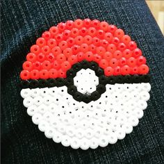 So Pokemon mad we've blogged about it! Hama Beads pokeball by @joanswan on Instagram
