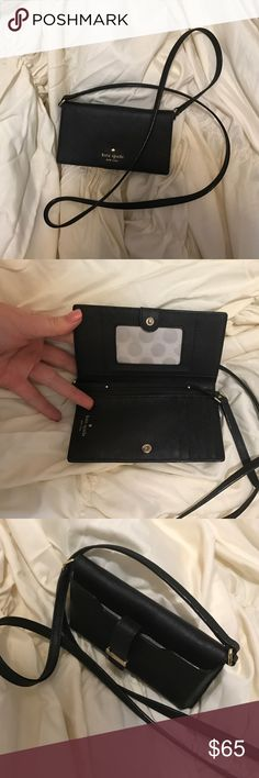 Kate Spade Crossbody Kate Spade iPhone Crossbody! Perfect for concerts, nights out or everyday. Only used a couple times. Like new condition. kate spade Bags Crossbody Bags