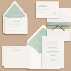 Japanese paper envelope liner wedding invitation tiny pine press patterned teal and gold japanese yuzen wave paper inspired the color palette and style of this stopboris Image collections