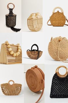 purses and handbags designer affordable Popular Handbags, Trendy Handbags, Unique Purses, Cute Purses, Dior Handbags, Purses And Handbags, Straw Handbags, Retro Chic, Summer Bags