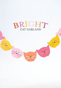 Bright cat garland